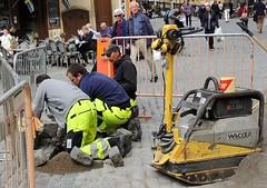 Old town construction work (bokage) Tags: sweden stockholm bokage oldtown gamlastan worker street