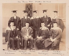 The 'Druids' Club, St. Johns College, Cambridge, England - early 1890s (Aussie~mobs) Tags: druidsclub stjohnscollege cambridge england vintage group scholars phillips cameron butler tate tait sargent jackson gregory wills robertwilliamtate henrylonsdalegregory arthurgrahambutler archibaldprestoncameron williamjamesleighphillips 1890s