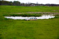 Canada 2016  The Canadian  Car crawling out of the water (Michiel2005) Tags: car lake auto meer vijver pond thecanadian lecanadien canada