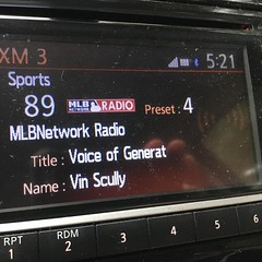 Nice to get in the car and find this on the radio. #IMissVin #VinScully