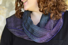 scarves of summer (kindred threads) Tags: kindredthreads handwoven weaving handdyed scarves dyedwarp warpdyed twill