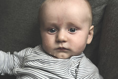 My brothers beautiful child. (anek07) Tags: child baby eyes people portraitindoor portrait indoor natural naturallight love thinking barn bebis gon dreglar gullig portrtt
