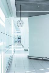 Time is running, they are coming (David Kutschke) Tags: time running clean panic floor long walk corridor korridor gang lang sauber rein zeit uhr clock steril sterile future zukunft