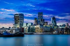 Drama London (vangeliskakavas) Tags: london thames long exposure d5100 sunset clouds sky