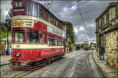 Crich Tramway Village 4 (Darwinsgift) Tags: crich tramway village matlock derbyshire tram national museum hdr photomatix 28mm voigtlander color skopar sl ii transport living red tripod