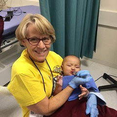 "CSI nurse, Julie Hampson, feeding a baby with TLC • <a style=""font-size:0.8em;"" href=""http://www.flickr.com/photos/109076046@N08/30360128496/"" target=""_blank"">View on Flickr</a>"