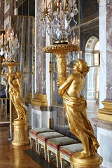Golden Women at Versailles (big_jeff_leo) Tags: paris louis versailles palace architecture gold heritage building statelyhome historic art ceiling fresco imperial unesco hallofmirrors french royal