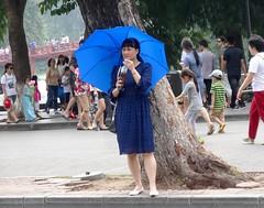 Lady in blue (program monkey) Tags: umbrella woman blue oldquarter vietnam hanoi