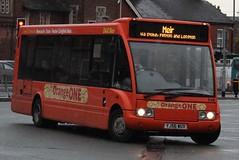 D&G Bus Optare Solo 114 (YJ56 WUV) (john-s-91) Tags: dgbus optaresolo 114 yj56wuv newcastleunderlyme theorangeone