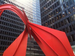 junto al edificio Federal Center de Mies Van Der Rohe, Chicago