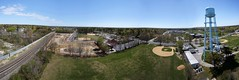 Brentwood Watertower Panorama, NY (NestorDesigns) Tags: track watertower traintracks baseballfield wwkap2013