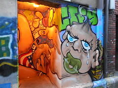 drug baby (Joelk75) Tags: art graffiti alley tn knoxville tennessee marketsquare unionavenue wallavenue