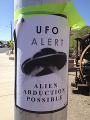 Sign from Fiesta (mikey and wendy) Tags: alien possible abduction