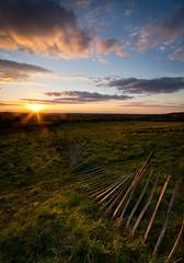 Secure (nick_silkstone) Tags: wood uk sunset england sky broken field clouds rural fence landscape spring wire nikon nick sigma lincolnshire trent valley fields 1020mm grad 1020 grads silkstone wellingore welbourne d3100 nicksilkstone