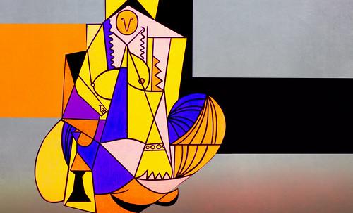 """Odaliscas (Mujeres de Argel) yuxtaposición y deconstrucción de Pablo Picasso (1955), síntesis de Roy Lichtenstein (1963). • <a style=""""font-size:0.8em;"""" href=""""http://www.flickr.com/photos/30735181@N00/8746884313/"""" target=""""_blank"""">View on Flickr</a>"""