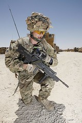 Signaller with Manpack Radio Equipment in Afgh...