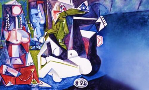 """Odaliscas (Mujeres de Argel) yuxtaposición y deconstrucción de Pablo Picasso (1955), síntesis de Roy Lichtenstein (1963). • <a style=""""font-size:0.8em;"""" href=""""http://www.flickr.com/photos/30735181@N00/8748002638/"""" target=""""_blank"""">View on Flickr</a>"""