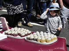 Kid and Cupcakes (AntyDiluvian) Tags: cambridge boy festival boston kid child massachusetts harvard cupcake harvardsquare fedora churchstreet mayfair streetfair massave massachusettsavenue streetfestival