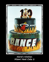 Norie's Kitchen - Miami Heat Cake 2 (Norie's Kitchen) Tags: birthday cakes cake miami philippines celebration heat custom cavite fondant gumpaste norieskitchen