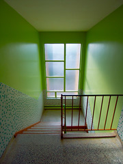 Delicious Key Lime Pie (Nick Stanley) Tags: green tile mosaic interior stairwell walls lime spaces