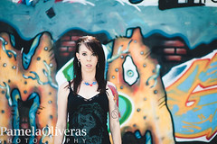 Cris and the wall (ukreal1) Tags: portrait urban tattoo rebel 50mm graffiti nikon women punk lol tattoos okinawa punks edgy milfs tattoogirls d700