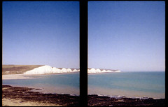 Seven Sisters Penorama (rob orchard) Tags: film pen sussex olympus cliffs sevensisters ee kodakcolorplus200