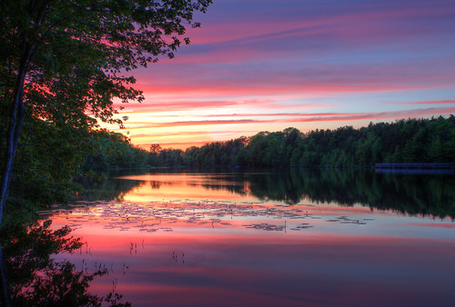 Sunset on Oathill Lake, Nova Scotia - HDR 3