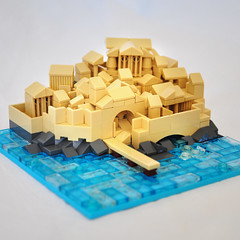 Lego Greek Port City (olivier.lego) Tags: lego miniscale greece greek port city bricks