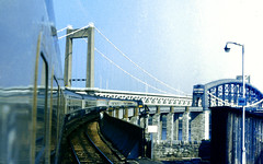 Slide 066-87 (Steve Guess) Tags: ikb saltash bridge isambard kingdom brunel devon cornwall england gb uk british rail hst high speed train royal albert tamar estuary river plymouth