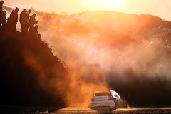 Atmosphere... (Aitor Domingo) Tags: rally rallye race racing rallying wrc competition rallycar polowrc sunset sunsetpics silhouette sun dust cold winter remember canon motor sport sports motorsport sportphotographer pic awesome beautiful magic aitordomingo fog mist foggy atmosphere sunlight red