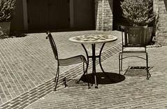 Patio (Don Iannone) Tags: sepiatone patio charlestonsc