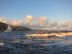 IMG_6847 (nautical2k) Tags: waikikibeachboys paddling outrigger canoe diamondhead honolulu oahu