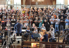 DSCN4308c. Crouch End Festival Chorus recording session at St Jude-on-the Hill, London. 3rd September 2016. J S Bach St John Passion in English. Chandos CHSA5183 (Paul Ealing 2011) Tags: crouch end festival chorus 3 september 2016 cefc st saint john passion judes church j s bach david temple conductor judeonthehill camerata recording chandos london english version chsa5183 new novello choral edition translation neil jenkins