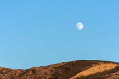 La luna y una montaa (15/365) (pedrobueno_cruz) Tags: moon sky blue mountain colors day sunset sun 365 challenge d7200 explored landscape green photography photographer ensenada mxico