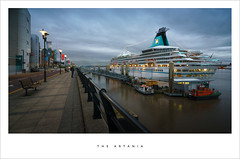 The Artania (Parallax Corporation) Tags: artania princessdock liner cruiseship liverpool dusk wideangle clouds traveller mersey river
