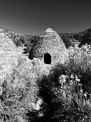 Wildrose Canyon charcoal kilns #10 (jimsawthat) Tags: blackandwhite desert mojavedesert rural california stone historic charcoalkilns mountains panamintmountains deathvalleynationalpark