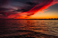 Red Sky at Night, Sailor's Delight. (A Great Capture) Tags: light dramatic sky agreatcapture agc wwwagreatcapturecom adjm toronto on ontario canada canadian photographer northamerica ash2276 ald mobilejay jamesmitchell summer summertime 2016 lake water lakeontario sunset dusk sundown evening red purple orange gold golden waterscape agua reflection clouds nuvole scenery eos digital natur nature naturaleza natura sun sunny sunshine fire colours colors exposure cielo jamesthespit