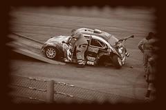Elle va rouler moins bien... (philippejeanne) Tags: mecanique mecano machine mystere auto automobile accident arrire jante juste junior jeu car crash vw volkswagen sortie route course race