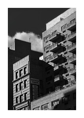 Building Blocks (icypics) Tags: america architecture bw buildings newyork signs urban geometry highcontrast shadows