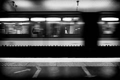 L'inconnue de la station Montparnasse (Dom-35) Tags: bw blackwhite metro mouvement noiretblanc paysage street urbain