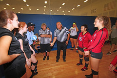 IMG_9491 (SJH Foto) Tags: girls volleyball high school mount olive mt team tween teen teenager varsity tamron 1024mm f3545 superwide lens pregame ceremonies ref referee captains coin toss