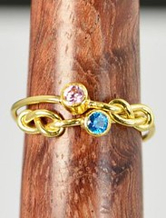 Grab 2 14k Gold Fill (alaridesign) Tags: grab 2 14k gold filled infinity ring stackable rings mother birthstone knot by alaridesign