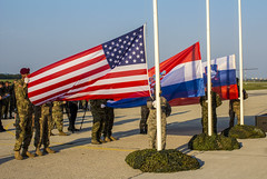 Raising the Colors (U.S. Army Europe) Tags: command nato unitedkingdom hungary multinational reserve newyork uk civil macedonia director croatia england royal affairs montenegro statenisland publicaffairs disaster humanitarian eucom airforce kosovo exercise partnership army flag usareur jeff bosniaandherzegovina slovenia partner immediateresponse cantor migration 353 strongeurope cerkljeobkrki
