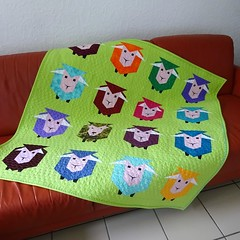 160_In Sheeps Clothing (PiecedByPeace) Tags: piecedbypeace english quilter quilt quilting quilts quilted fabric colourful colorful patchwork modern handmade modernquilt fabricart colorfulquilt colourfulquilt germany quiltsingermany quilteringermany deutschland quiltingindeutschland sheep baby babyquilt