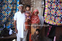 Abdul Hameed with family. (Akhuwat BPP) Tags: sukkur pakistan interest free loans microfinance entrepreneurship ordinary people small business working from home akhuwat