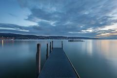 Into the Blue (pixadeleon) Tags: au zürichsee lake zurich water longexposure clouds bluehour morning steg fischersteg bootssteg jetty blue challengegamewinner