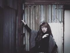 (Blockshadows) Tags: 50mm canon city urban girl woman muted somber moody portrait