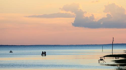 Pescadores no poente - Rubineia SP