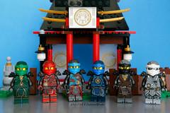 """HoT"" ninjas all together) (adria1223) Tags: ninjago lego legoninjago ninjagolego legocustom custom legominifigures legofigures ninjagocustom legoninjagocustom nya lloyd cole jay zane kai ninjagohot ninjagohandsoftime"
