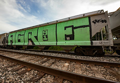 (o texano) Tags: houston texas graffiti trains freights bench benching roller agroe rem